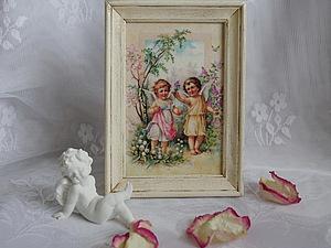 Как сделать милую интерьерную картину &#8212&#x3B; подарок к Пасхе. Ярмарка Мастеров - ручная работа, handmade.