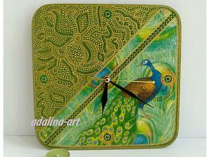 Мастер-класс - Часы Павлин с росписью | Ярмарка Мастеров - ручная работа, handmade