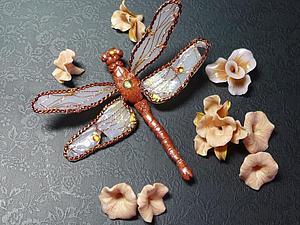 Крылышки стрекозы из проволоки и полимерной глины. Ярмарка Мастеров - ручная работа, handmade.