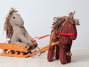 Лошадки на счастье в Новый год! | Ярмарка Мастеров - ручная работа, handmade