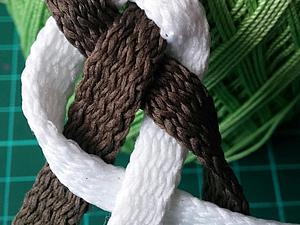 Плетем летний пояс из четырех шнуров. Ярмарка Мастеров - ручная работа, handmade.