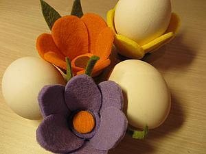 Готовимся к Пасхе: делаем цветы-подставки для яиц. Ярмарка Мастеров - ручная работа, handmade.