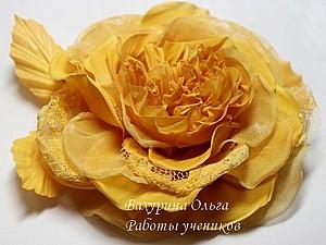 Цветы из ткани   Ярмарка Мастеров - ручная работа, handmade