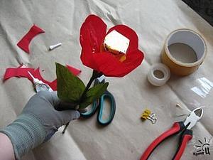 Делаем цветы из конфет. Ярмарка Мастеров - ручная работа, handmade.