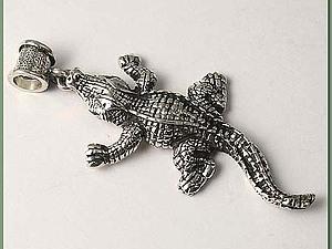 Аукцион на серебряный кулон Крокодил | Ярмарка Мастеров - ручная работа, handmade