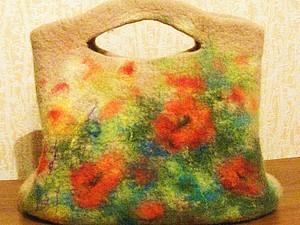 Мастер-класс по валянию сумок с акварельным рисунком | Ярмарка Мастеров - ручная работа, handmade