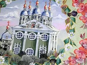 Декорируем поднос «Юбилей города-героя Смоленска». Ярмарка Мастеров - ручная работа, handmade.