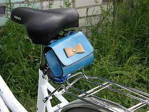 Бардачок для велосипеда из мини-сумочки быстро и легко. Ярмарка Мастеров - ручная работа, handmade.