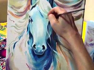 Как рисовать лошадь - поэтапное видео   Ярмарка Мастеров - ручная работа, handmade