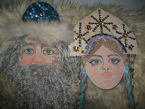 Забытые на антресоли Дед Мороз и Снегурочка | Ярмарка Мастеров - ручная работа, handmade