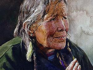 Акварели  китайского художника Zhou Tianya Часть 1  портреты   Ярмарка Мастеров - ручная работа, handmade