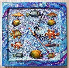 Часы с объемными рыбками. Ярмарка Мастеров - ручная работа, handmade.