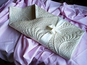 """2) Мастер - класс. Имитация трапунто. Конверт - одеяло на выписку """"Крем - брюле"""".. Ярмарка Мастеров - ручная работа, handmade."""