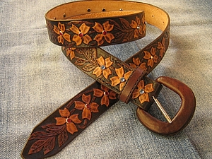 Кожаная пряжка для ремня. Ярмарка Мастеров - ручная работа, handmade.
