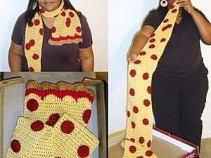 Шарф-пицца | Ярмарка Мастеров - ручная работа, handmade