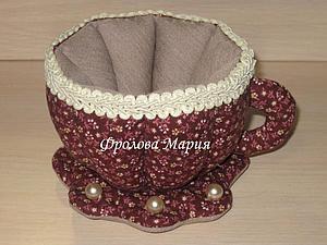 Как сшить текстильную чашку. Ярмарка Мастеров - ручная работа, handmade.