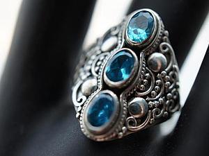 Аукцион!!! На кольцо и цепочку из серебра 925 пробы! | Ярмарка Мастеров - ручная работа, handmade