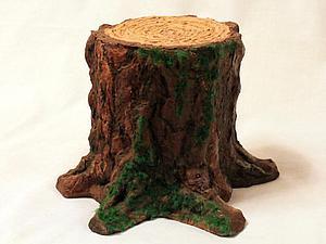 Мастерим настоящий лесной пень из подручных материалов | Ярмарка Мастеров - ручная работа, handmade