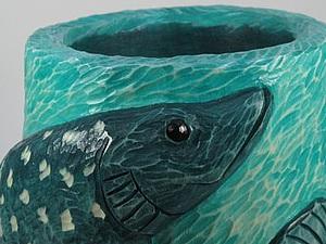 Мастер-класс: деревянная резная ваза «Мечта рыбака». Ярмарка Мастеров - ручная работа, handmade.