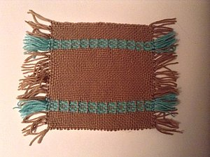 Ткачество на раме. Имитация браного ткачества.. Ярмарка Мастеров - ручная работа, handmade.