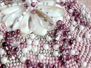 Аукцион до 1 декабря на зеркальце с вышивкой и фьюзингом!!!! | Ярмарка Мастеров - ручная работа, handmade