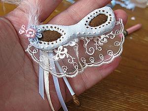 Делаем венецианскую маску для текстильной куклы. Ярмарка Мастеров - ручная работа, handmade.
