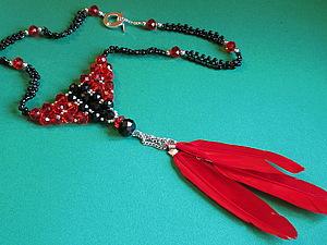 """Колье """"Красное и черное"""".. Ярмарка Мастеров - ручная работа, handmade."""