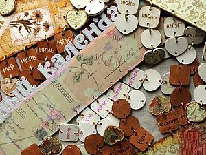 Семейный календарь в деталях | Ярмарка Мастеров - ручная работа, handmade