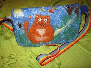 Мокрое валяние.Занятие по заявкам: тапочки, подушка или сумка | Ярмарка Мастеров - ручная работа, handmade