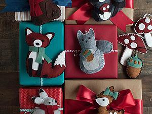 Мини мастер класс по созданию зверей из фетра для украшения новогодних подарков | Ярмарка Мастеров - ручная работа, handmade