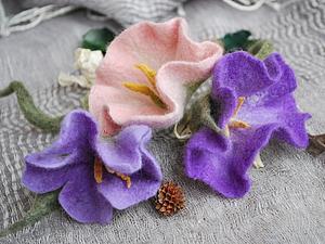 Валяние цветов из шерсти мокрое