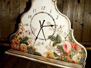 Цветочные часы. Обьемный декупаж!  handmade