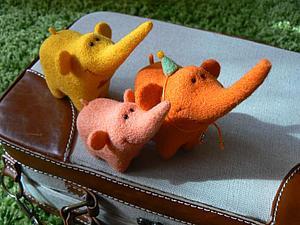 Слоники. МК. Сухое валяние. | Ярмарка Мастеров - ручная работа, handmade