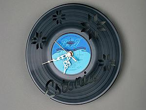 Часы из виниловых пластинок | Ярмарка Мастеров - ручная работа, handmade