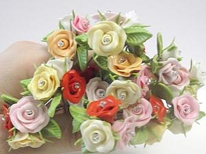 Создаем романтичные шпильки с розочками. Ярмарка Мастеров - ручная работа, handmade.