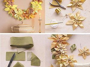 Идеи: веночек из шелковых лент на новый год и не только | Ярмарка Мастеров - ручная работа, handmade