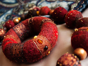 Валяние объемного браслета | Ярмарка Мастеров - ручная работа, handmade