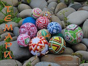 МК по вышивке шаров темари   Ярмарка Мастеров - ручная работа, handmade