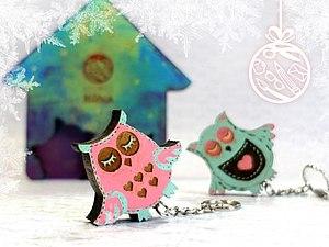 Прекрасные ключницы к новому году. Роспись по дереву   Ярмарка Мастеров - ручная работа, handmade