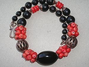 Завершен. Аукцион на ожерелье + серьги в подарок + акция )) | Ярмарка Мастеров - ручная работа, handmade