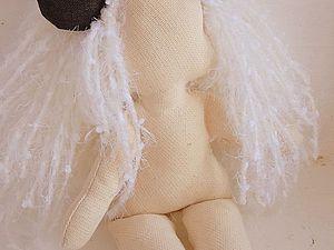 Как пришить волосы текстильной кукле. Ярмарка Мастеров - ручная работа, handmade.