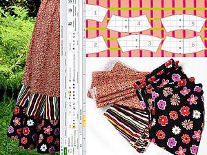 Мастер-класс: ярусная юбка воланами. От математической модели до реального воплощения. Часть вторая: кроим юбку. Ярмарка Мастеров - ручная работа, handmade.