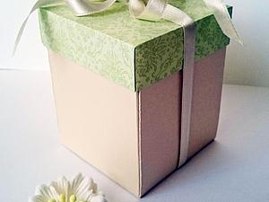 How to make a cute gift box with your own hands