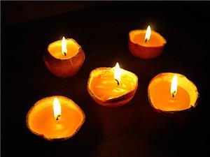 Апельсиновые свечи своими руками. Ярмарка Мастеров - ручная работа, handmade.