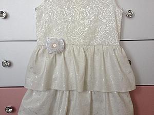 Шьем нарядное платье для девочки. Ярмарка Мастеров - ручная работа, handmade.