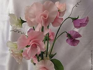 Новинка нашей студии - керамическая флористика (цветы из холодного фарфора) - Душистый горошек!   Ярмарка Мастеров - ручная работа, handmade
