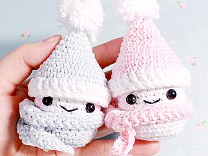 Вяжем снеговика из киндер-сюрприза на Новый год. Ярмарка Мастеров - ручная работа, handmade.