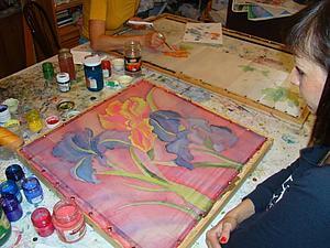 Мастер-класс по  холодному батику | Ярмарка Мастеров - ручная работа, handmade