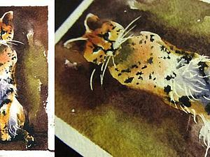 Учимся рисовать сервала акварелью | Ярмарка Мастеров - ручная работа, handmade