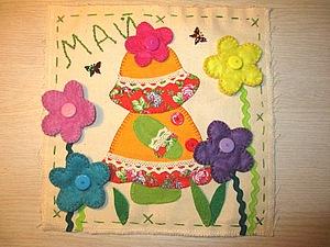 Развивающий календарь для дочки. Май. Ярмарка Мастеров - ручная работа, handmade.